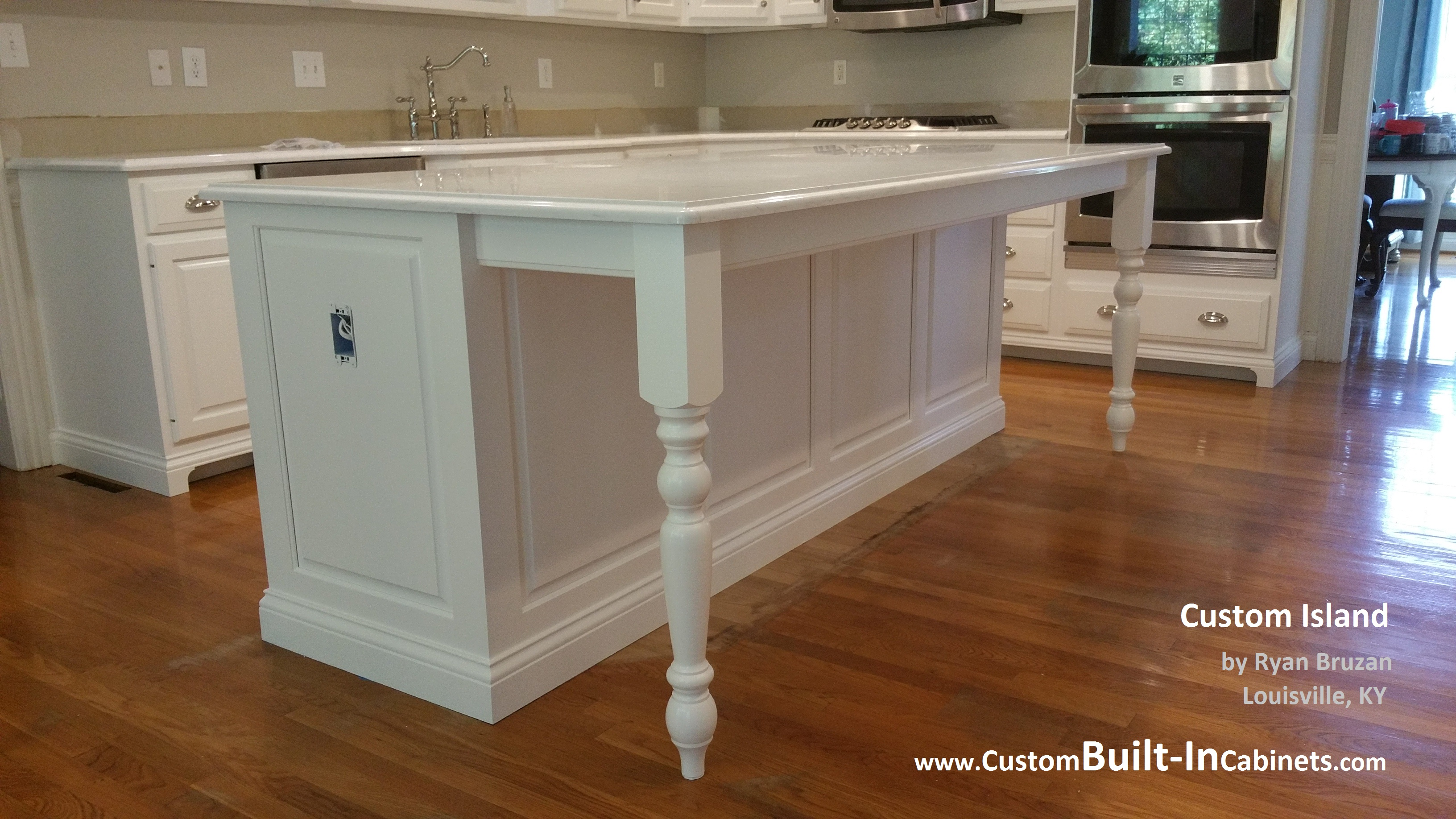 Custom islands custom built ins for Built in kitchen islands