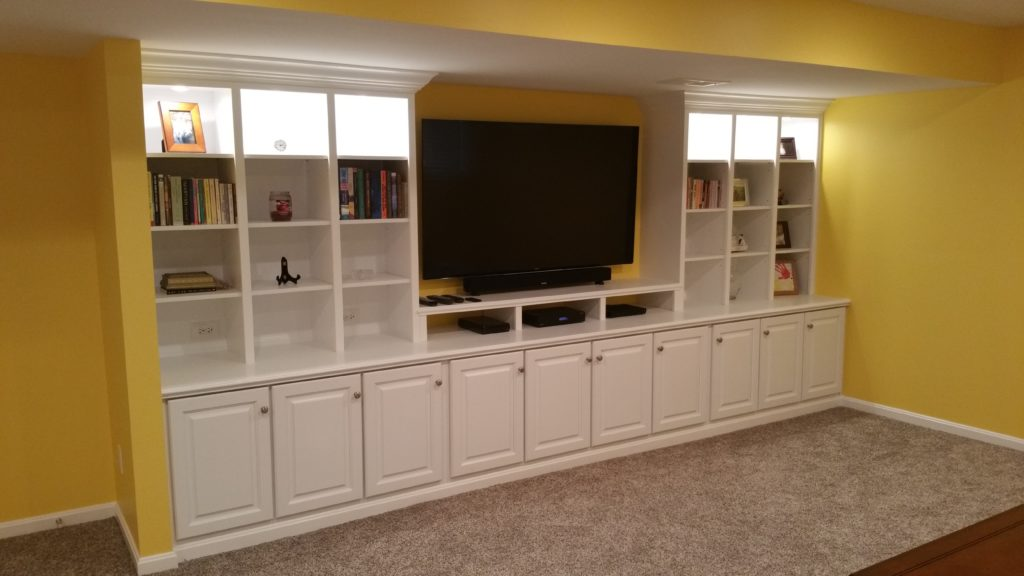 Built in entertainment center in Louisville by Ryan Bruzan. Custom Built In Cabinets   Custom Built Ins