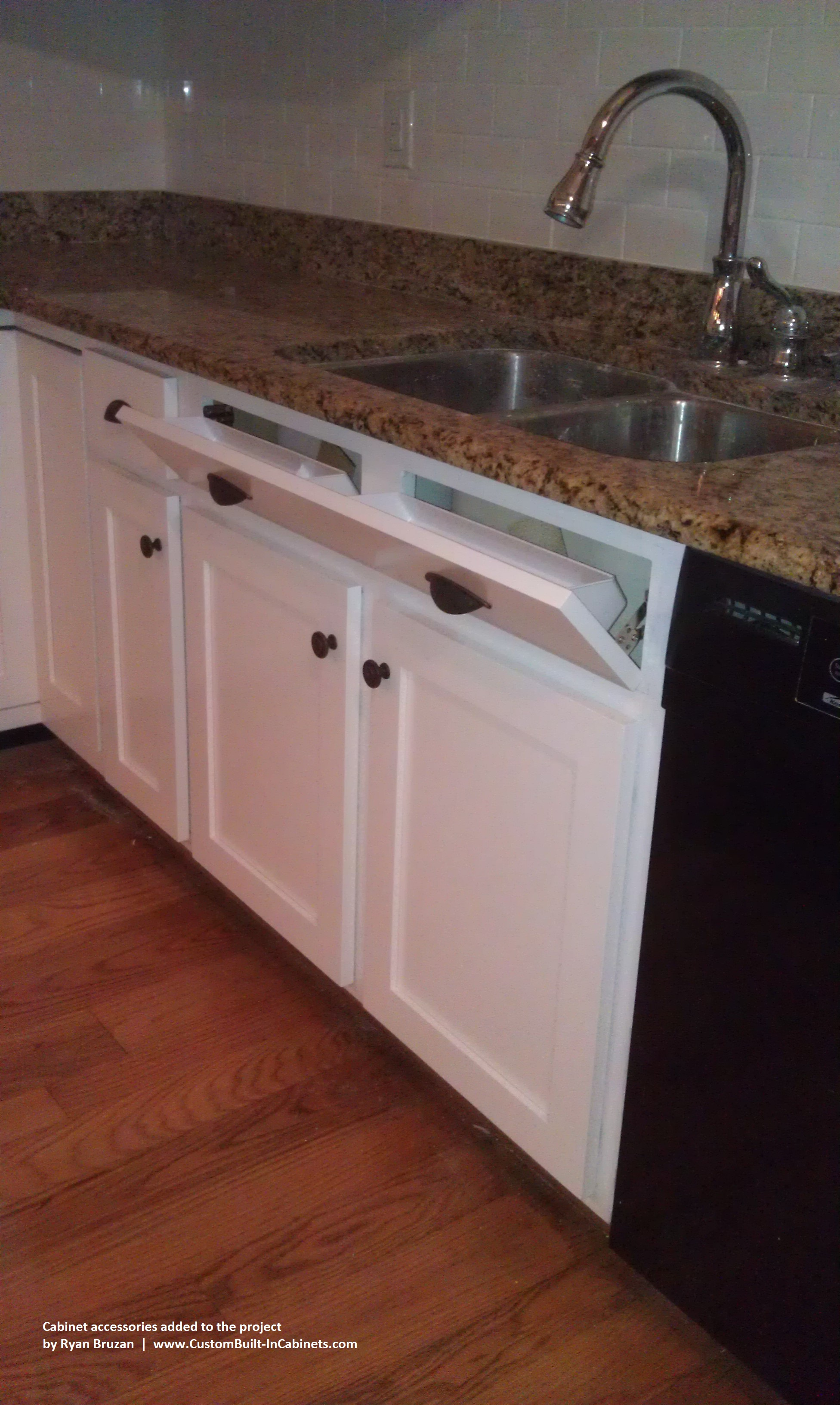 Cabinet Accessories Added To A Kitchen Cabinet Refinishing Project In Louisville Ky