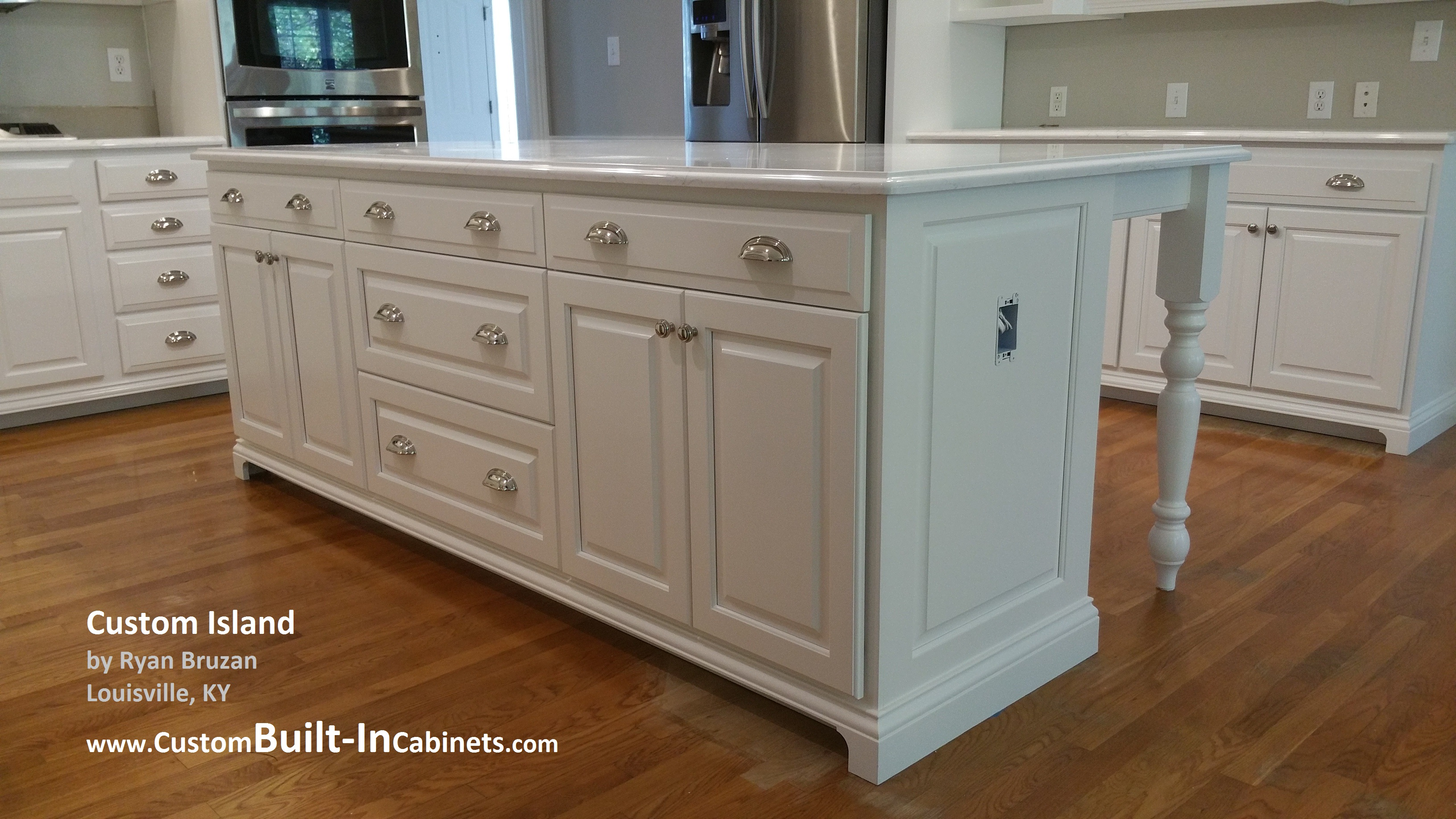 Custom built in cabinet services around louisville ky for Built in kitchen cabinets