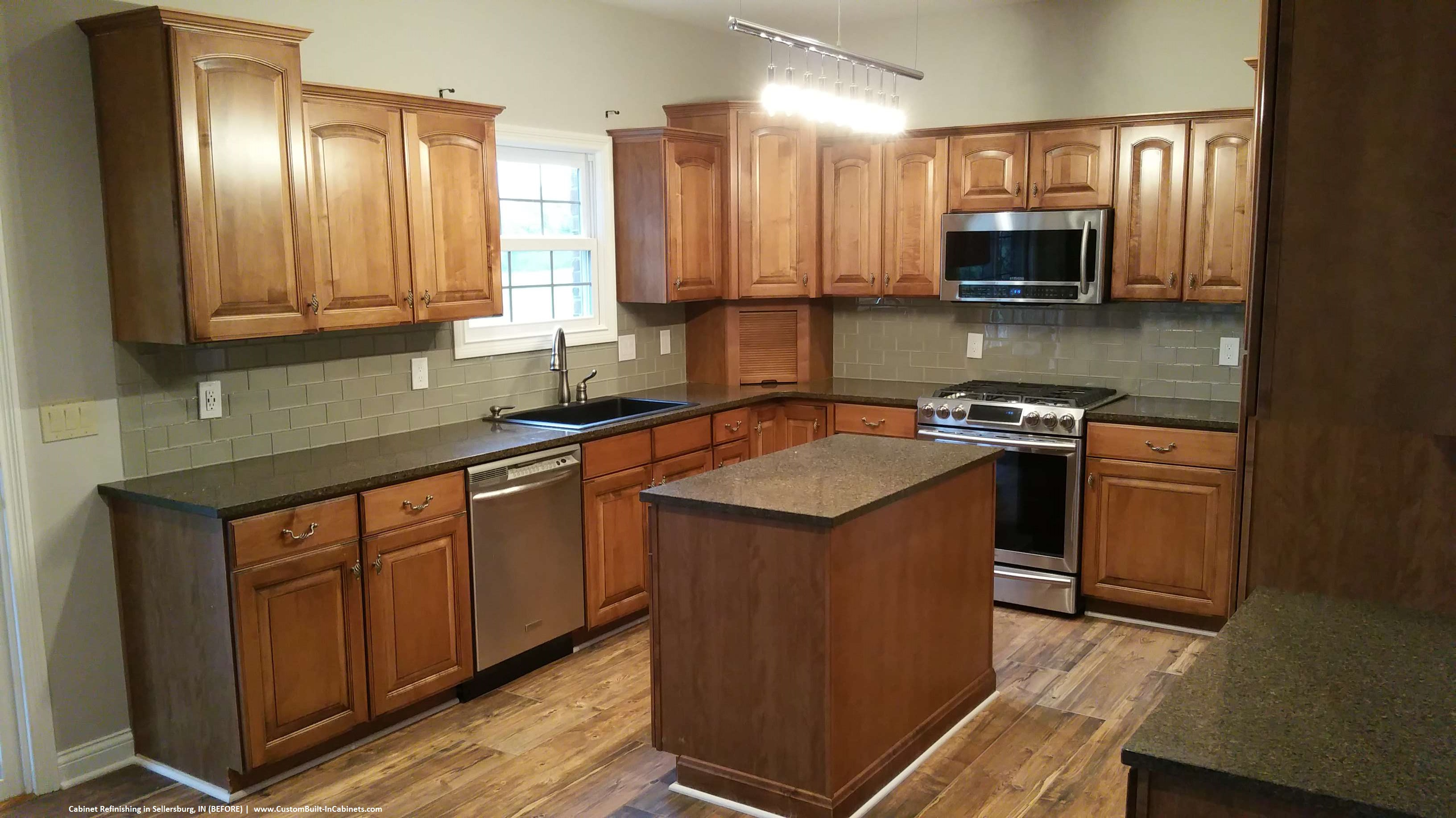 Cabinet refinishing louisville and southern indiana areas for Custom built cabinets